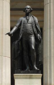 George Washington at Federal Hall, NY, by JQA Ward