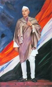 Jawaharlal Nehru by S Roerich, 1943