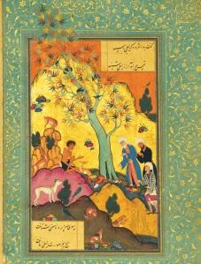 Majnu in the wilderness, 1507 manuscript