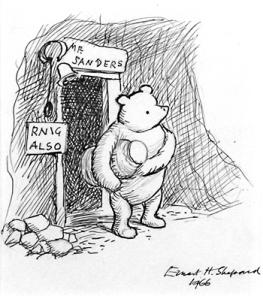 Winnie-the-Pooh at his front door (c)