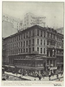 Waterman pen factory in New York, ca 1910