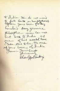 Mukerji's letter, page 2