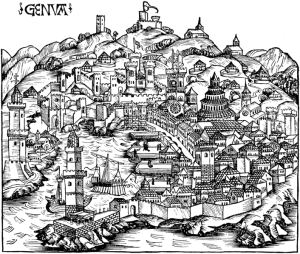 Hartmann Schedel, Genoa ca 1490
