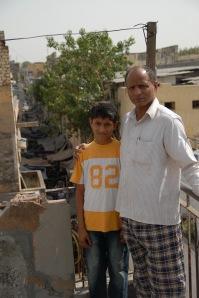 Overlooking the sari wholesalers' lane (c) V Anand Sankar 2009