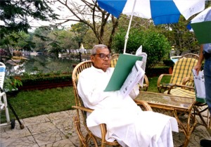 PM Vajpayee in Kumarakom, 2000