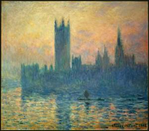 Le Parlement de Londres, soleil couchant, Claude Monet, 1903