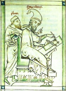 Socrates and Plato in a medieval illustration