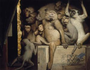 Monkeys as Judges of Art, Gabriel Cornelius von Max, 1889