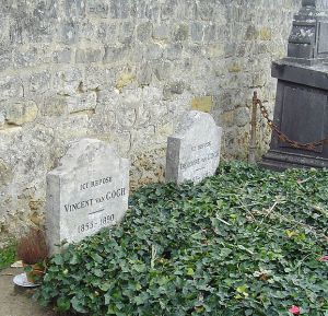 Vincent and Theo's graves in Auvers-sur-Oise