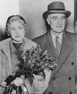 Clare Boothe Luce and her husband, 1954